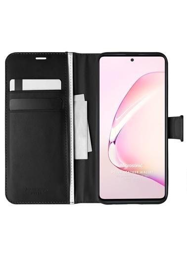 Microsonic Samsung Galaxy Note 10 Lite Kılıf Delux Leather Wallet Siyah